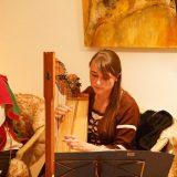 Valerie Liese an der Böhmischen Harfe