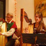 Beim Harfenkonzert im Klanghaus mit Bettina Kallausch und Valerie Liese