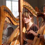 Valerie Liese beim Benefizkonzert der Harfenklasse in der Ref. Kirche