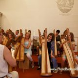 Die Harfenklasse beim Konzert