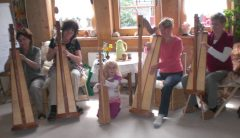 Teilnehmer beim Harfenimpulstag